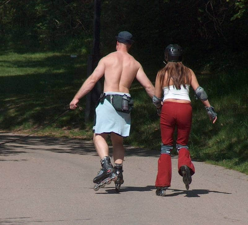 roller skating to keep fit