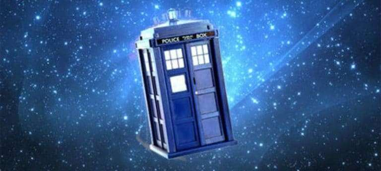 Doctor Who and his Tardis crash land in America