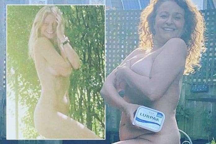 Nadia Sawalha naked