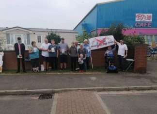 Caravan owners at Kingfisher Caravan Park